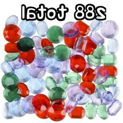"Colored Pirate Jewels  - 1"" Diamond Gem Booty Toy Jewels Tre"