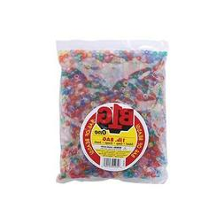 Pony Beads 9mm 1lb Pkg Transparent Multicolor