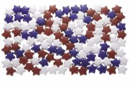 Darice Pony Beads Acrylic Star-Opaque Red, White, Blue 1 LB