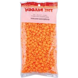 Pony Beads 6x9mm 900/Pkg-Opaque Orange