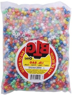 Pony Beads 9mm 1 Pound/Pkg-Pearlized Multi