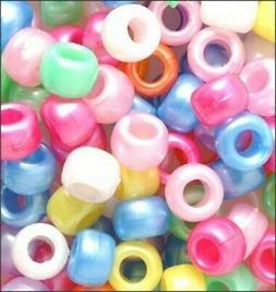 Pony Beads Plastic Spring Mix Pastel Pearl