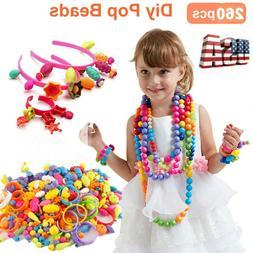 Pop Beads 260+PCS Jewelry Making Kit Toys Set for Kids DIY A