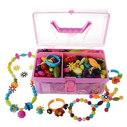 Pop Beads Kids Arty Toy Creative DIY Jewelry Set- Girls Neck