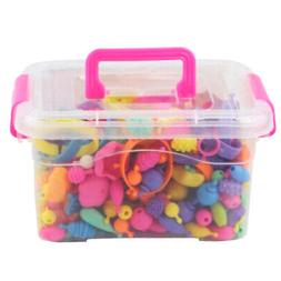 Colorful Jewellery Making Kids Pop Beads Set for Girls Age 3