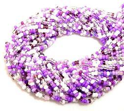 Preciosa 10/0 Color Lined Purple Mix Czech Glass 2.3mm Bulk