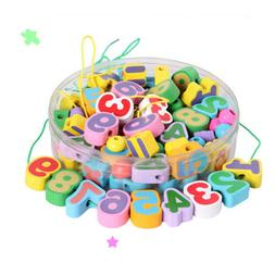 Preschool Lacing Beads for Kids - 80 Beads with 1 Strings, M