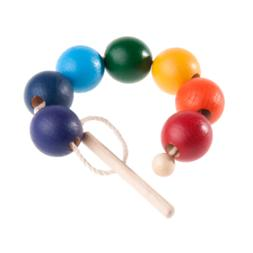Rainbow Wooden Beads Lacing toy