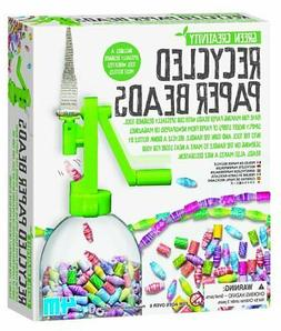 Recycled Paper Beads Kit 4M Green Creativity