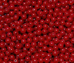 Red 6mm Round Acrylic Beads 500pc for crafts jewelry necklac
