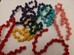 Resin Rose Beads, Dyed, Mixed Color, 7x6.5mm, Hole: 1mm Qty