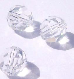 Swarovski round Austrian crystal beads faceted Clear 3mm 4mm
