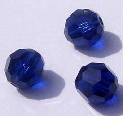 Swarovski round Austrian crystal beads faceted Dark Indigo 4
