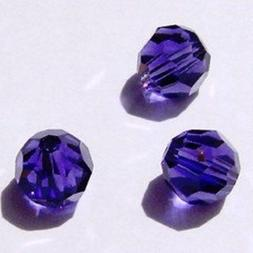 Swarovski round Austrian crystal beads faceted purple velvet