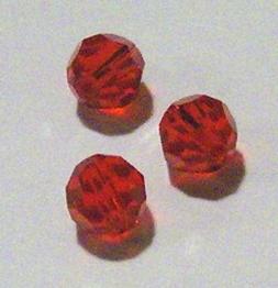 Swarovski round Austrian crystal beads Light Siam red 3mm 4m