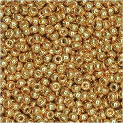 Miyuki Round Rocaille Seed Beads Size 11/0 24GM Galvanized G