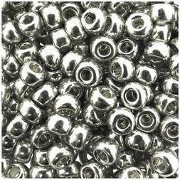 Miyuki Round Rocaille Seed Beads Size 6/0 20GM Galvanized Si