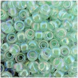 Miyuki Round Rocaille Seed Beads Size 6/0 20GM Lt Mint Green