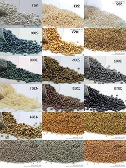 Miyuki Round Rocailles 15/0 Seed Beads - 10grs Bag Various c