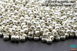 Miyuki Round Rocailles 6/0 Galvanized Silver Seed Beads RR-1