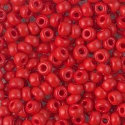 Miyuki Round Seed Beads Rocaille's Size 6/0 Opaque Red 20g-t