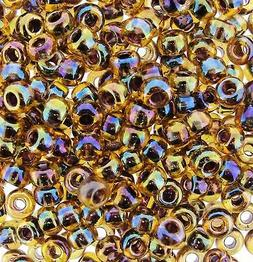 Miyuki Round Seed Beads Rocaille Size 6/0 Berry Lined Lt Top