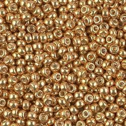 Miyuki Round Seed Beads Size 8/0 22 Gram Tube Galvanized Yel