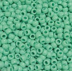 Sage 9x6mm Pony Beads 500pc for crafts hair kandi jewelry ma
