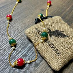 Sansar India Beads Chain Indian Necklace Jewelry for Girls a