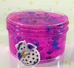 "SCENTED Clear Purple SLIME ""ANGEL"" THICK Glitter Beads Cat C"