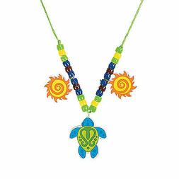 Sea Turtle Beaded Necklace Craft Kit - Craft Kits - 12 Piece