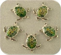 Sea Turtle Beads Loggerhead OCEAN Sand BEACH Bracelet Charm