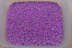 Miyuki Seed Beads 8/0 - Raspberry Lined Crystal AB