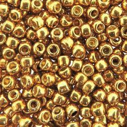 TOHO Seed Beads Round Size 8/0, 28GM, PermaFinish Galvanized