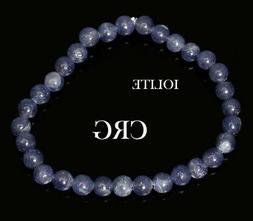 SELECT Round 6-7mm IOLITE Beads Stretch Bracelet