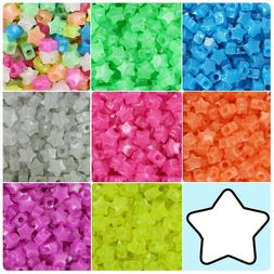 BeadTin Semi Glow 13mm Star Pony Beads  - Color choice