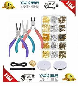 Jewelry Making Tool Kit Set Supplies Findings Starter Pliers