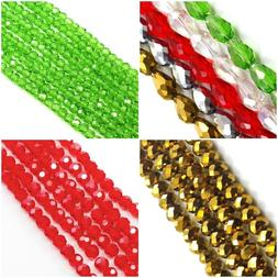 Shiny Crystal Faceted Round Rondelle Bicone Teardrop Beads J