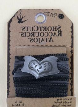 Blue Moon Beads ShortCuts Bracelet Wrap - Dark Gray