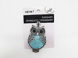 Bead Landing Silver and Turquoise Owl Pendant