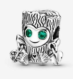 SILVER TREE MONSTER GROOT CHARM BEAD ADD TO EUROPEAN STYLE &