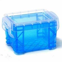 Small Mini Clear Blue Plastic Food/Craft/ Bead Storage Conta