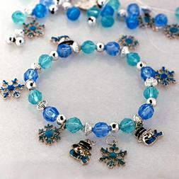 Snowman Charm Bracelet Craft Kit New Make your own Jewelry B