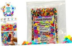 SooperBeads Water Beads 2 Oz Rainbow Mix 4000 Non-Toxic Wate