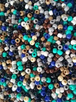 Southwest Pony Beads Loose Barrel Shaped Plastic 9mm 50 100