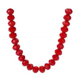 Spacer Beads Faceted Rondelle Opaque Red Loose Glass 3-14mm