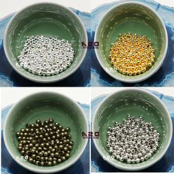 Spacer Beads Round Metal Jewelry Craft 4mm 5mm 200pcs Loose