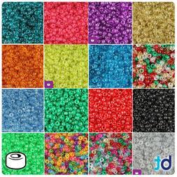 BeadTin Sparkle 6.5mm Mini Barrel Pony Beads  - Color choice