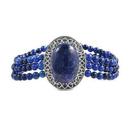 Stainless Steel Lapis Lazuli Beads Bracelet Jewelry for Wome