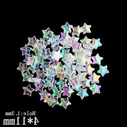 Transparent Beads For Kids Star Shape Jewelry Making Acrylic